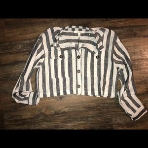 Cropped top long sleeve